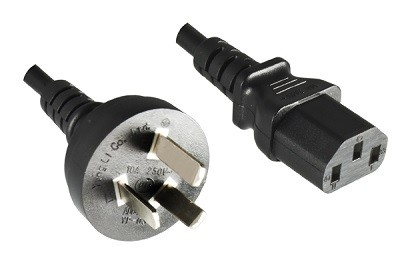 China plug, 3 pole, 5,0 m, with IEC 60320 C13 connector